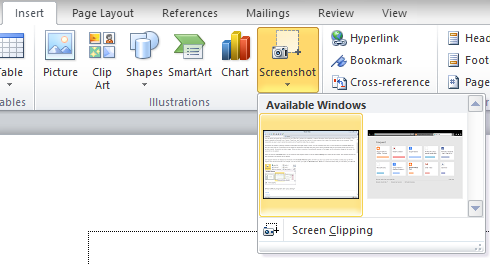 How to Capture Screen by Microsoft Office