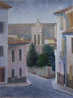El campanario desde la calle de Las Cuestas, II (12P)