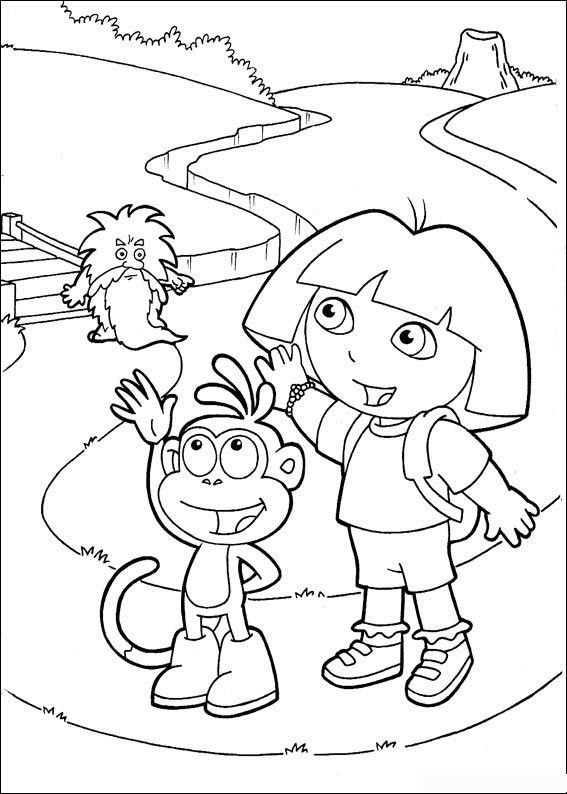 coloring pages dora map - photo#7