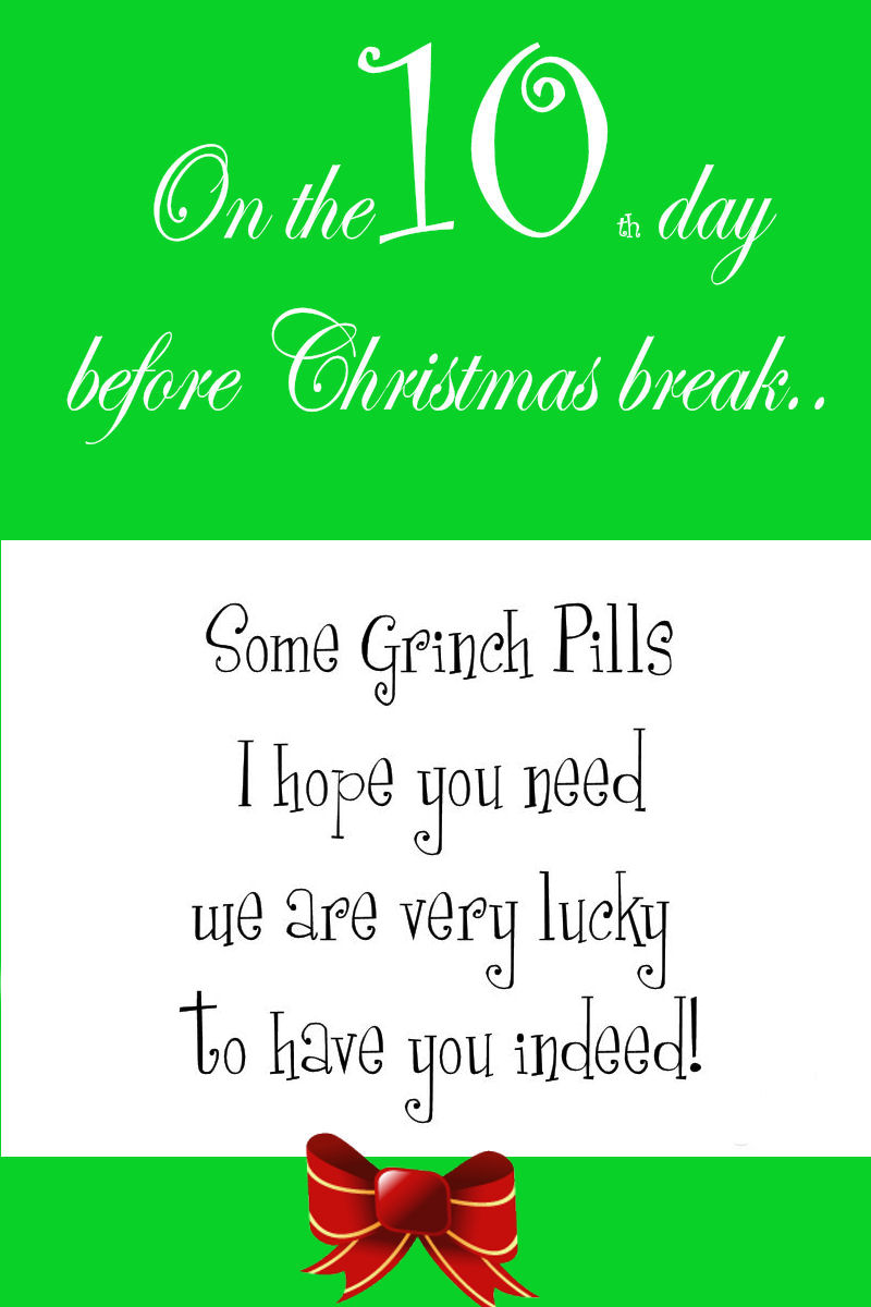 one done but not with out tears and grumpyness so this day wont be as rememberable we found this really cute tutorial and copied their grinch pills