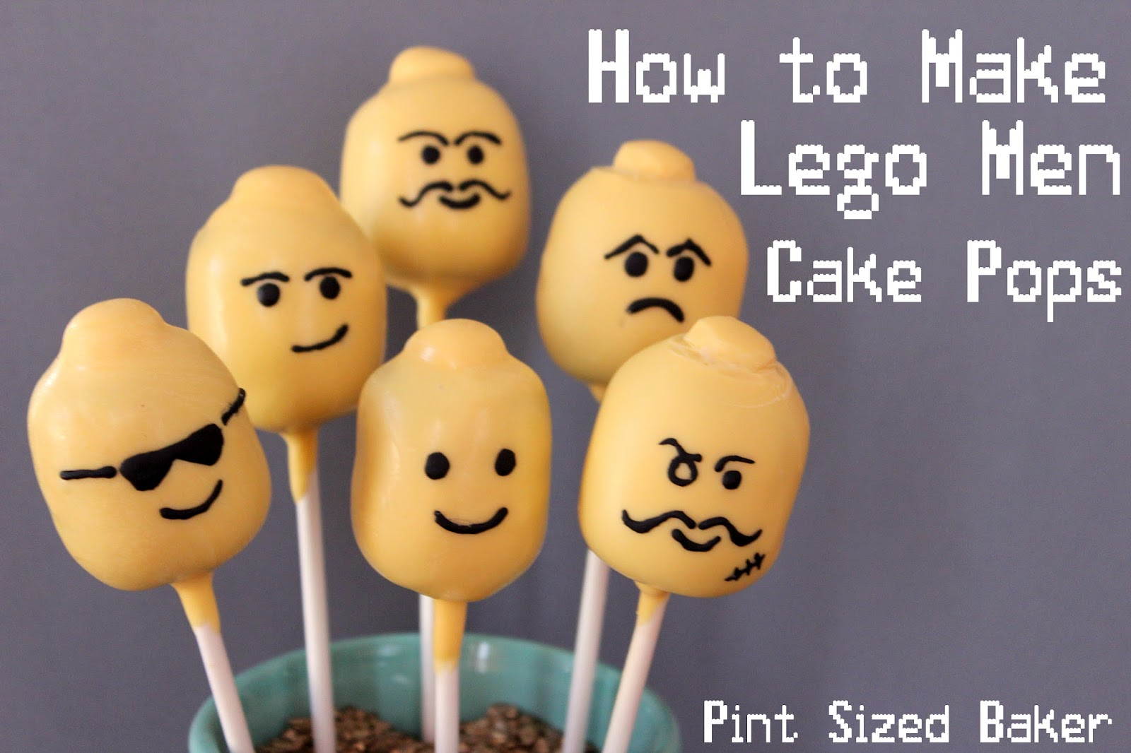 Pint Sized Baker How Make Lego Head Cake Pops