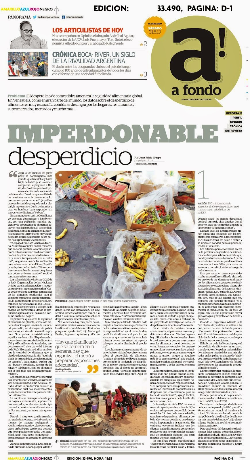 El imperdonable desperdicio