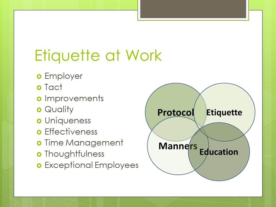 Etiquette Training
