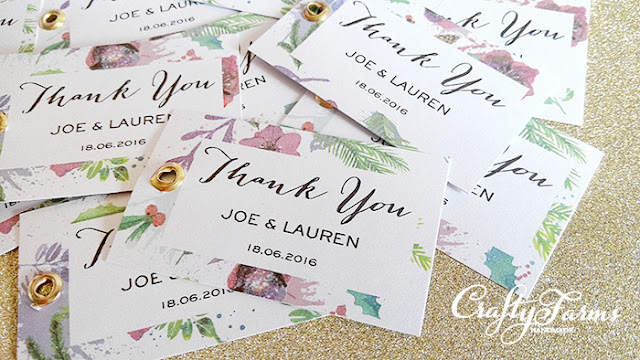 Birdcage Wedding Favour Packaging with Floral Thank You Tag