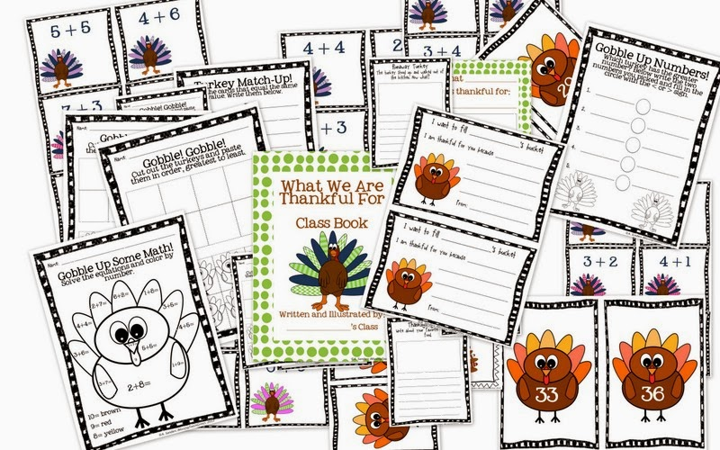 http://www.teacherspayteachers.com/Product/Turkey-Literacy-and-Math-Activities-961370