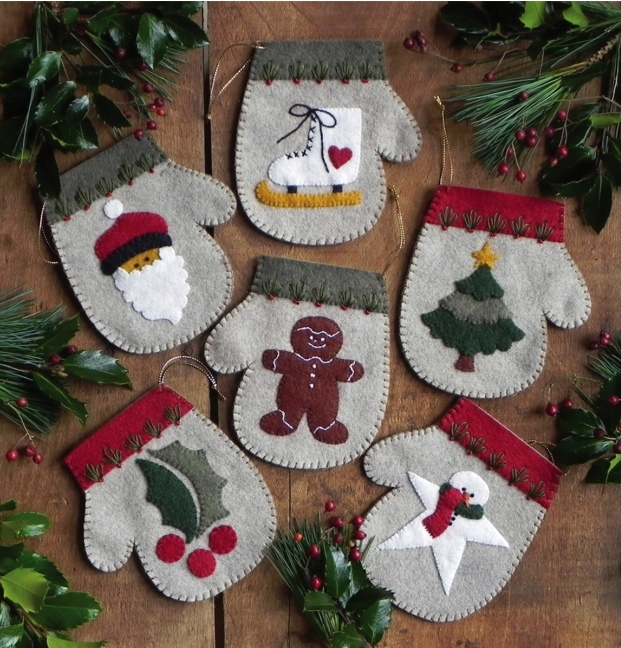 Weekend kits felt christmas ornament diy tree