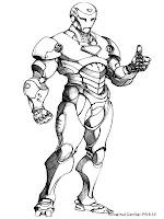 Gambar Mewarnai Iron Man 3