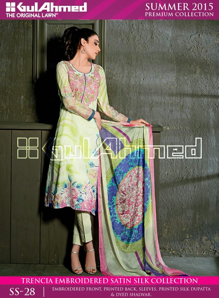 Silk Dresses by Gul Ahmed 2015