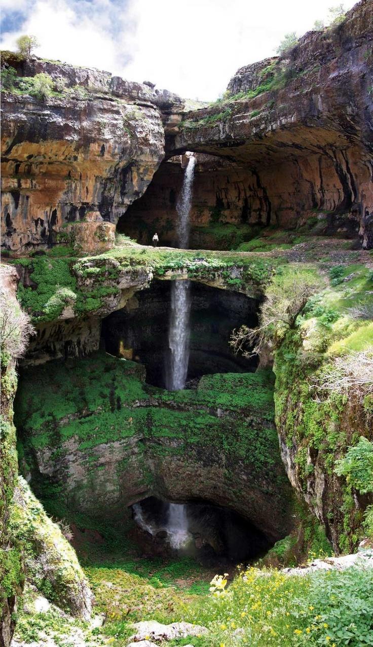 Balaa Sinkhole Waterfall Lebanon