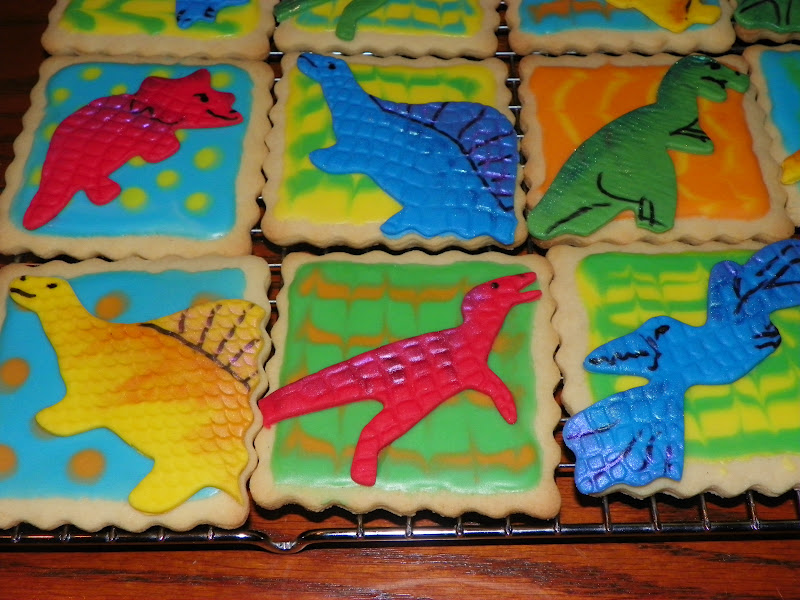 dinosaur cookie cake