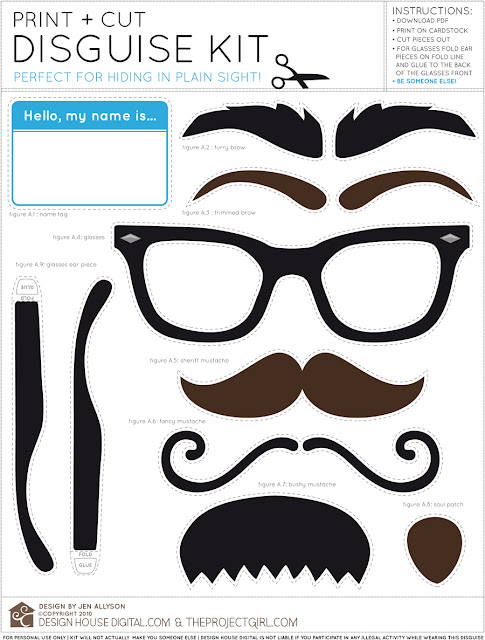 Bigotes y Gafas: Imágenes para Photo Booth para Imprimir Gratis.