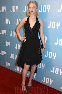 Jennifer Lawrence Pictures in Christian Dior Black Couture Dress