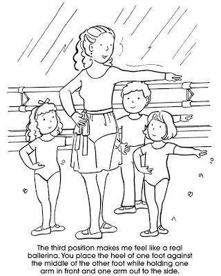 Free Ballet Position Coloring Pages