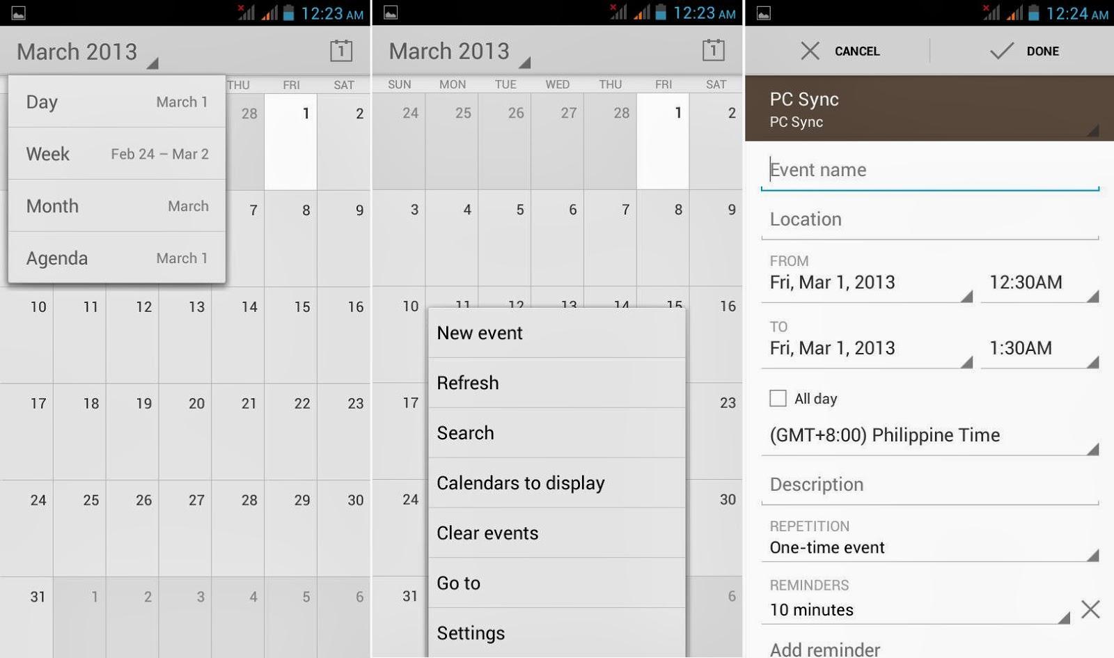 DTC Mobile GT15 Astroid Fiesta Calendar