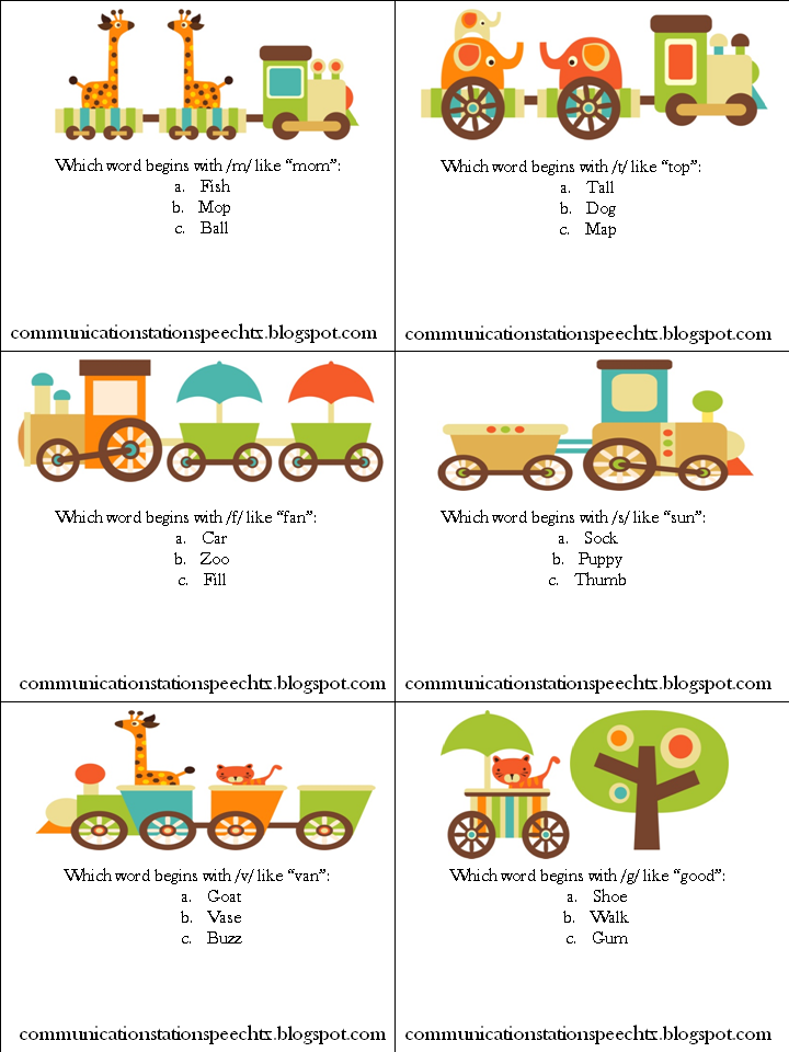 Speechie Freebies: Sound Off! The Train is Coming: A Phonological ...