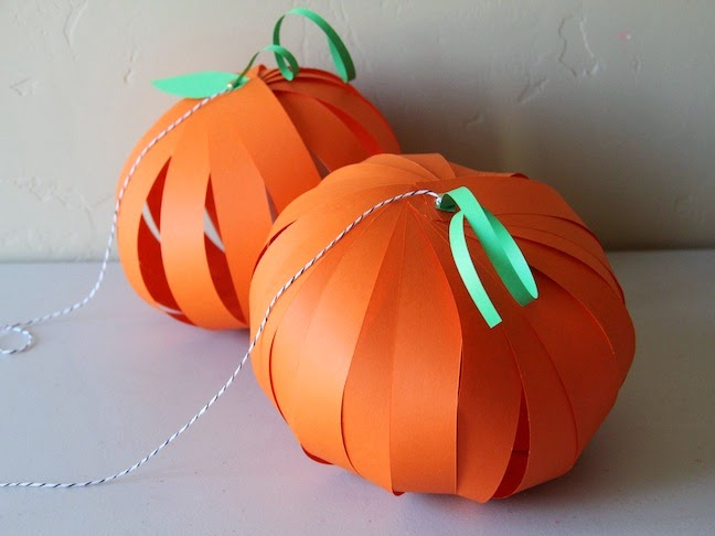 fall paper pumpkin lantern