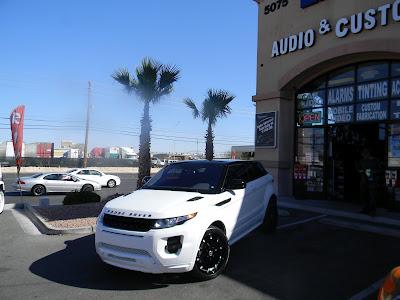 Evoque White Range Rover Wheels
