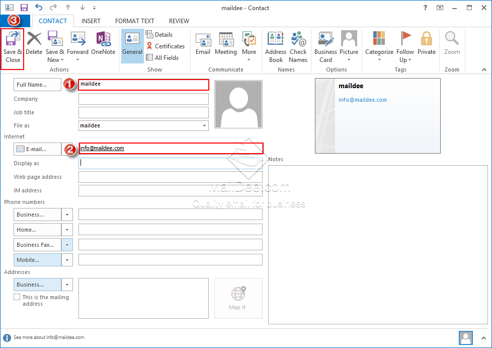 how to add people to outlook address book