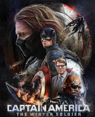 Poster Of Captain America The Winter Soldier (2014) In Hindi English Dual Audio 300MB Compressed Small Size Pc Movie Free Download Only At worldfree4u.com