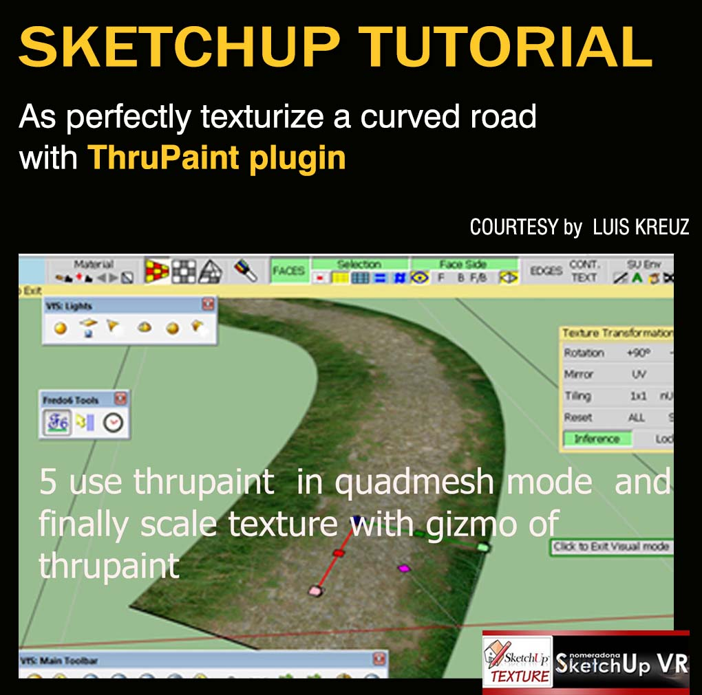SKETCHUP TEXTURE Sketchup tutorial As perfectly texturize a