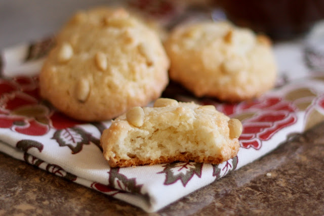 Italian Pine Nut Cookies (Pignoli or Pinon Cookies) recipe by Barefeet In The Kitchen