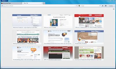 New Tab Fitur Firefox 15 (Aurora)