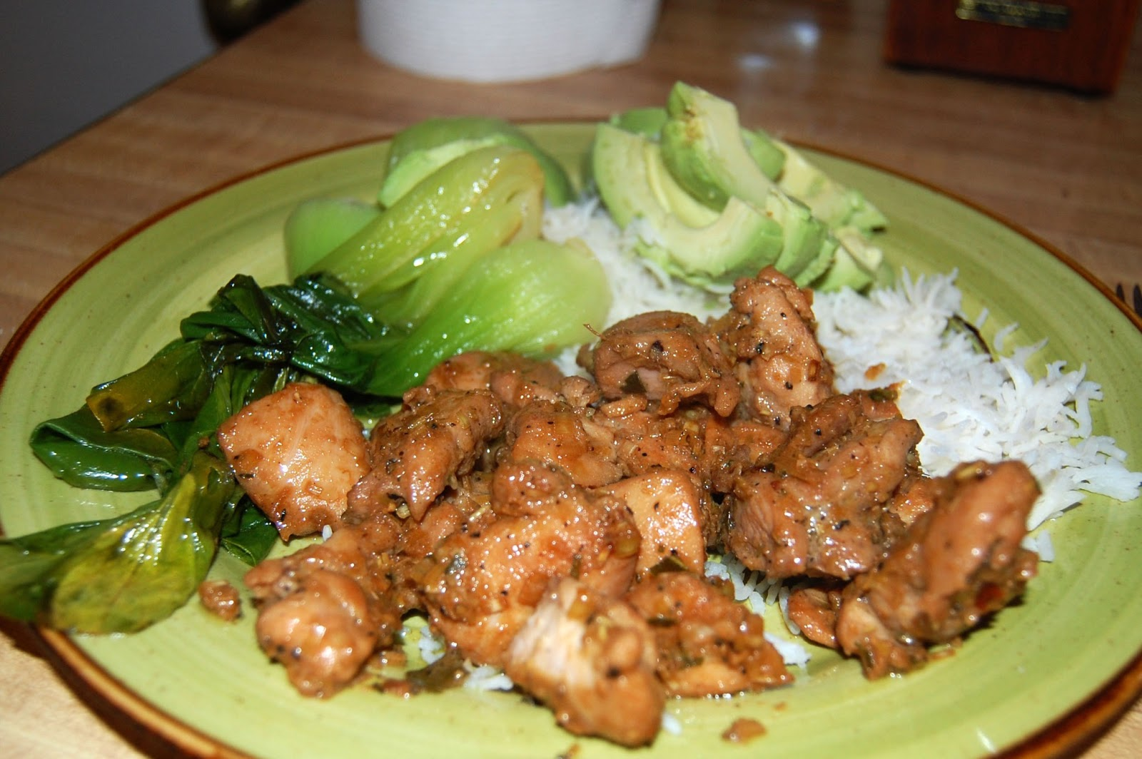 The chicken in this tangy dish is covered with flavorful chunks of ...