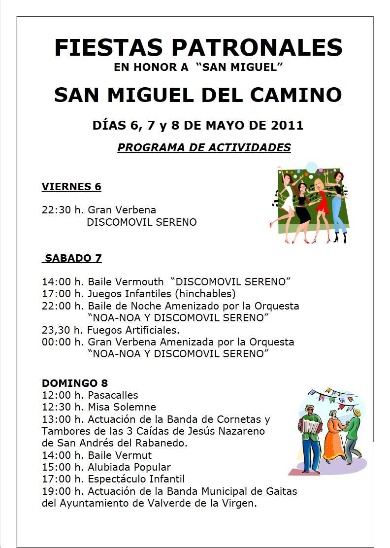 San miguel del camino fiestas patronales en honor a san - San miguel del camino ...