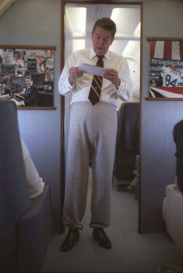 Divertidas fotografías de grandes personalidades Reagan