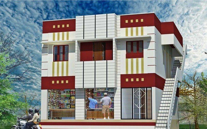 Desain Ruko Minimalis Modern Sederhana Tampak Depan