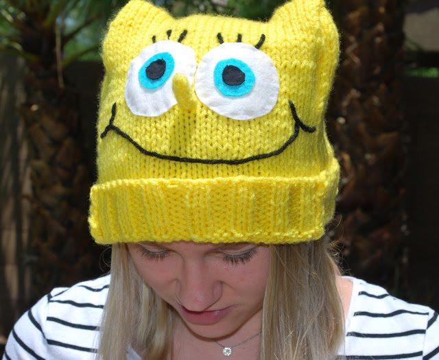 Sponge Bob Square Pants Crochet Hat