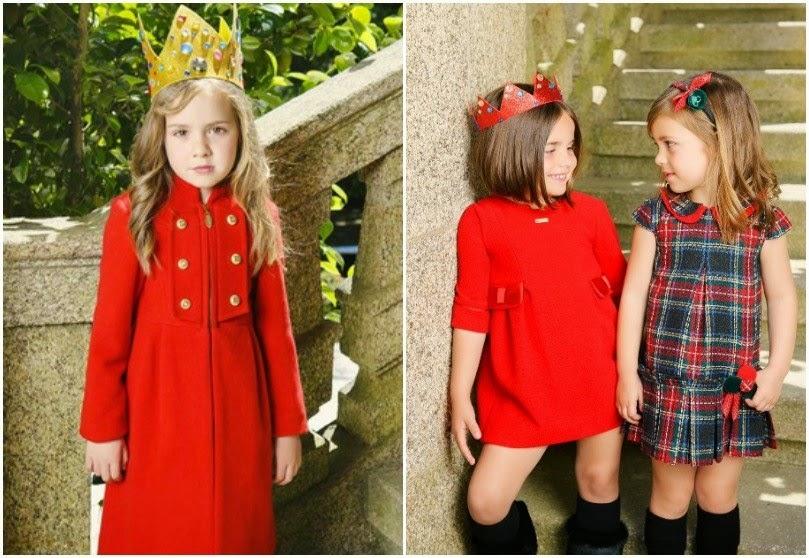 Como vestir a los niños en Navidad - vestido rojo y tartán