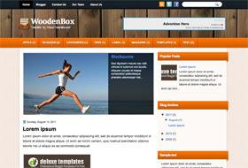 WoodenBox Blogger Template