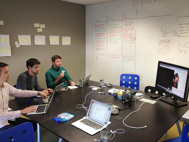 開發團隊觀察使用者使用新的原型
