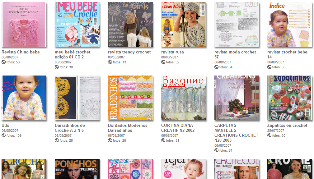 72 Revistas de Crochet. Recopilacion Picasa - Patrones Crochet