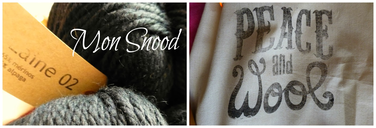 Mon Snood en kit avec Peace and Wool