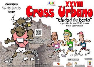 XXVIII CROSS URBANO - CIUDAD DE CORIA - 15 de junio de 2012