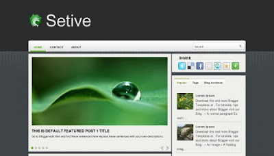 Setive Blogger Templates