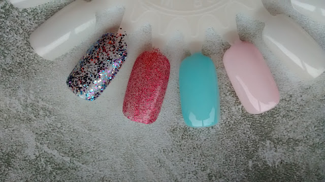 BarryM Rose Hip, Sky Blue, Masquerade and Ruby Slippers