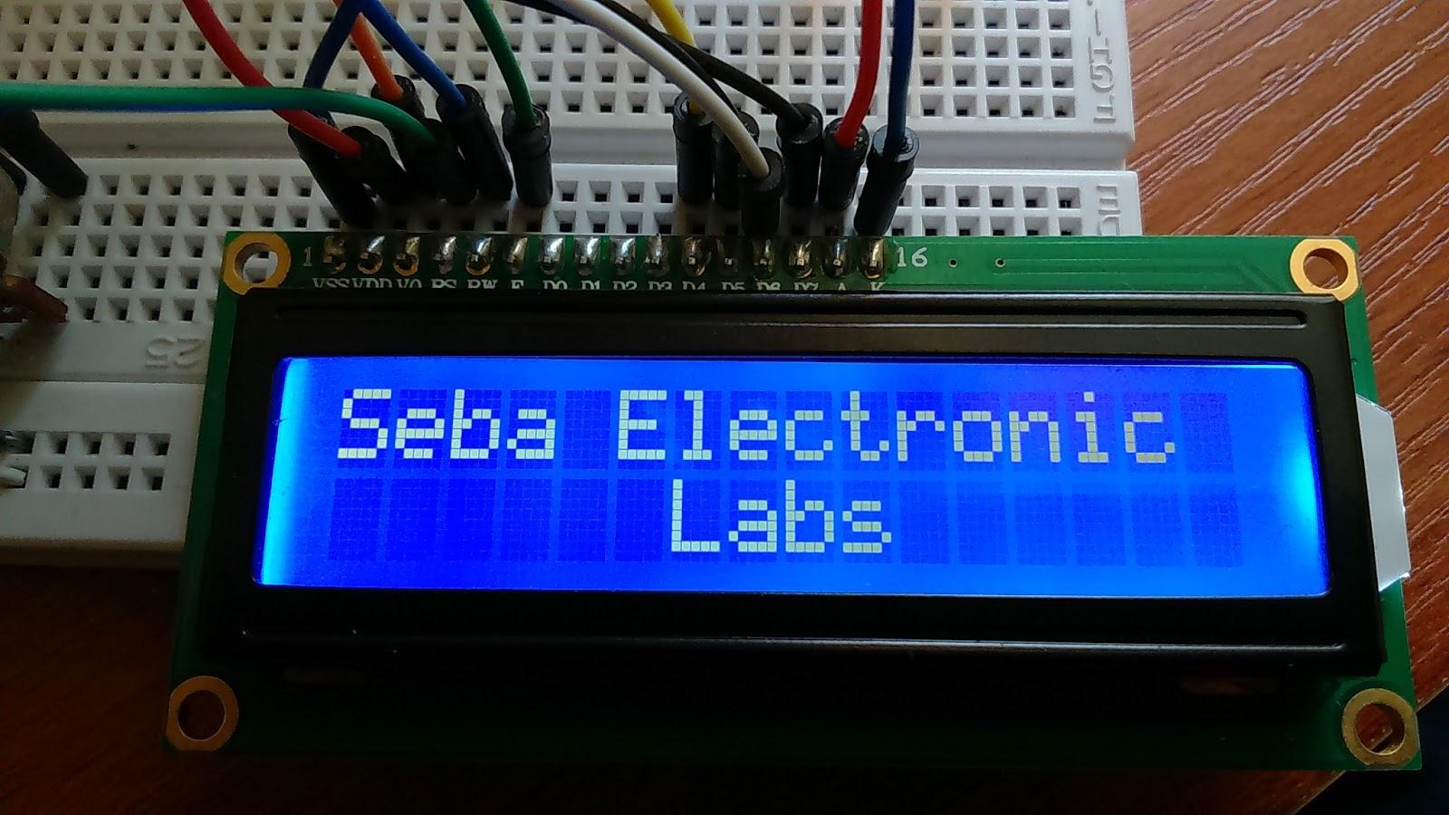 Seba electronic labs arduino conectar pantalla lcd
