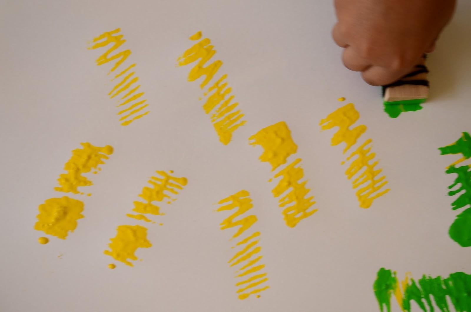 Paint with Yarn: Yarn on Block