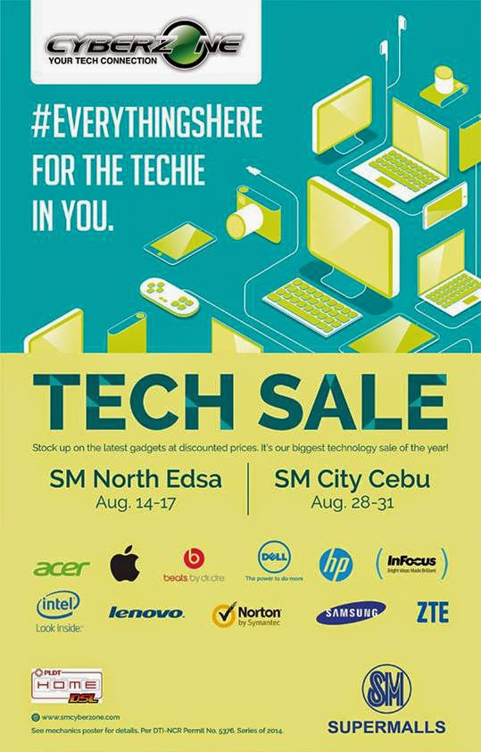 SM Cyberzone Tech Sale - SM North Edsa on August 14-17, 2014
