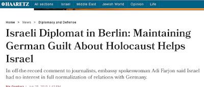 Ισραηλινή διπλωμάτης: Θέλουμε η Γερμανία να έχει ενοχές για Ολοκαύτωμα