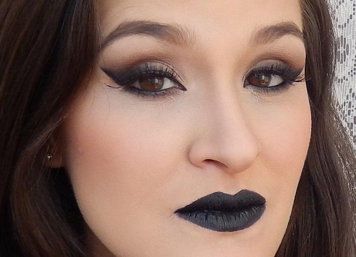 maquiagem gótica suave dark