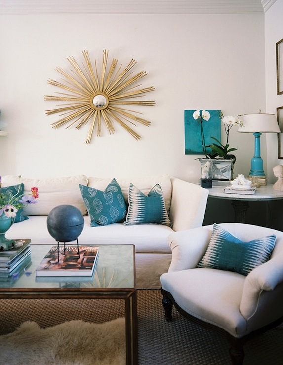 Copy Cat Chic Room Redo I Turquoise Living Room Copycatchic