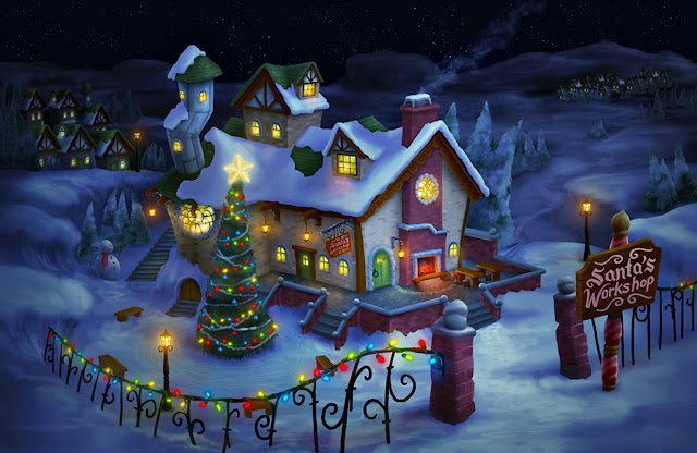 animated Christmas night wallpaper