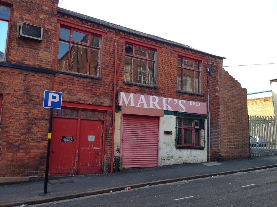Abandoned(?) delicatessen, Jewellery Quarter, Birmingham