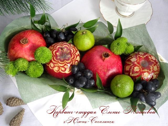 Оформление фруктами и цветами южно-сахалинск