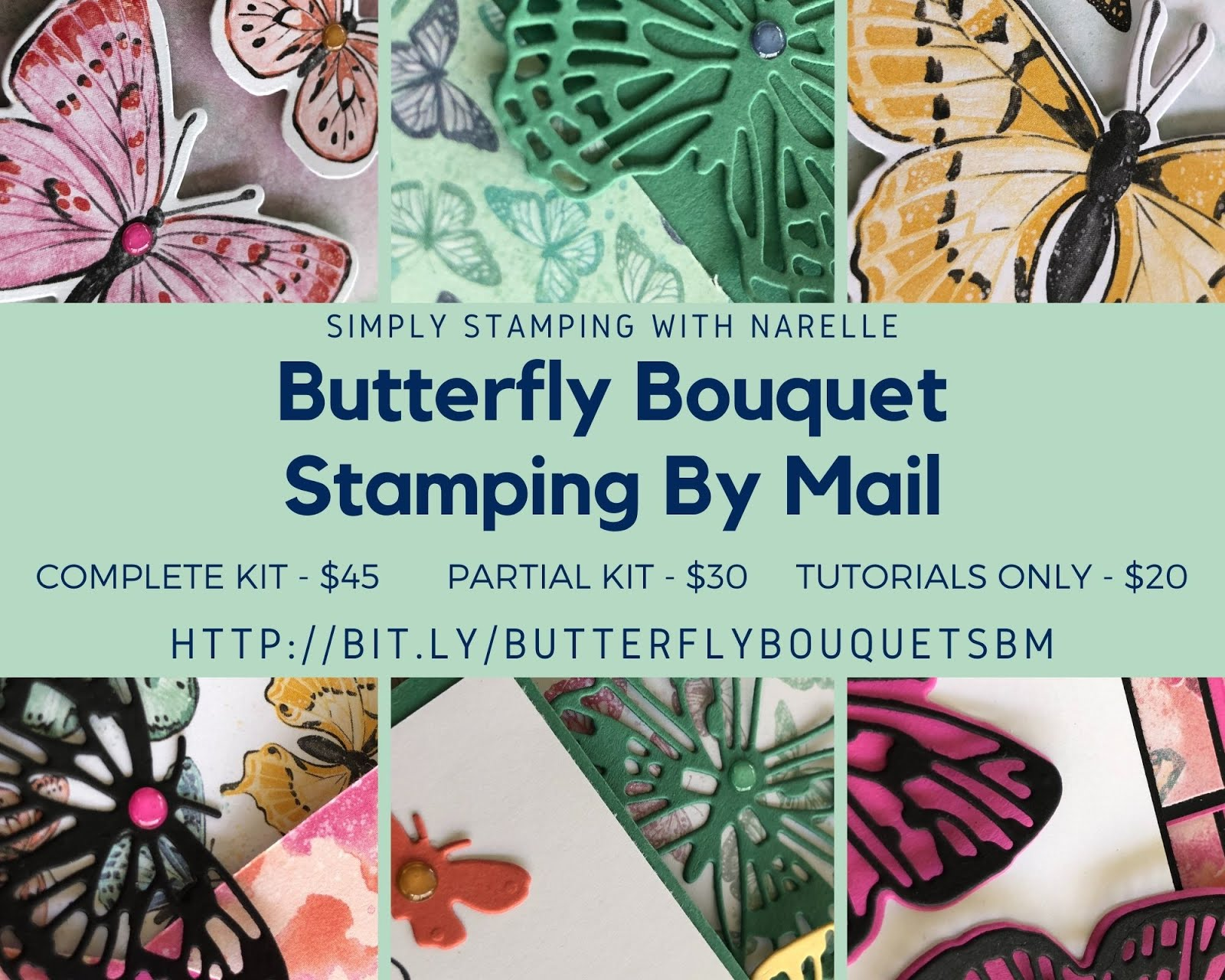 Butterfly Bouquet Stamping By Mail