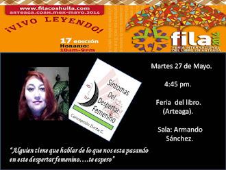 Feria del Libro en Arteaga, Coahuila.  Mayo 2014